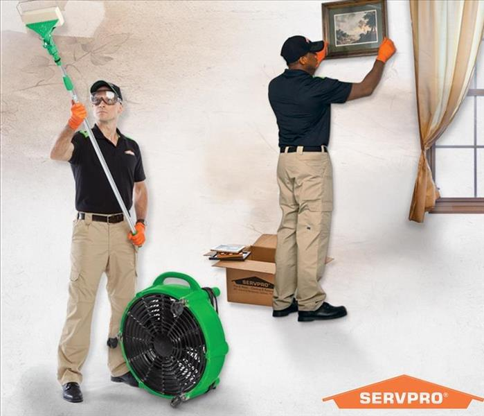 SERVPRO employees cleaning after a fire
